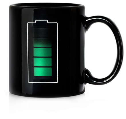 Mug with a temperature sensor