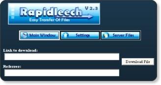 rapidleech script'inin ana görüntüsü