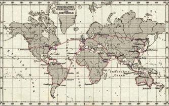 1891'deki Ana Telgraf Hatları.
