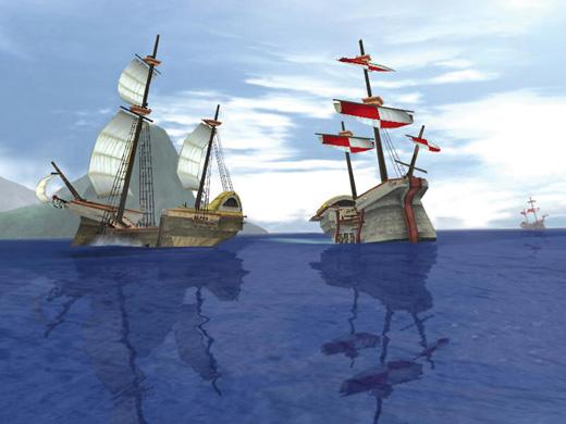 Panda3D ile yapılmış MMORPG oyunundan bir görüntü