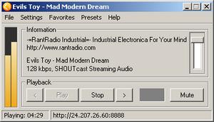 Sreamer Radio ekran görüntüsü
