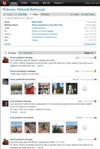 bebo.com'dan örnek bir kullanıcı sayfası
