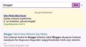 google ajax arama
