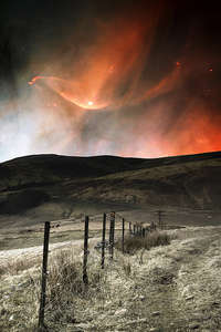 Pentland hills with some northern lights