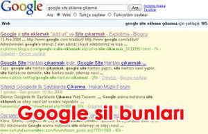 Googledan site kayıtlarını silemek