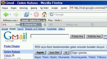 GMAiL RSS ( Compose Mail ) link i :)