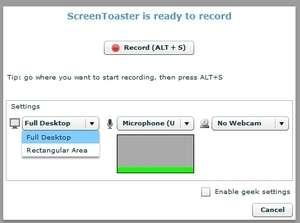 Screen Toaster