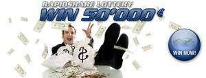 rapidshare lottery
