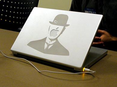Lazer işlemeli Powerbook