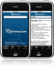 Dictionary.com  iphone uygulaması.