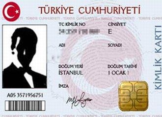 çipli kimlik kartı örneği