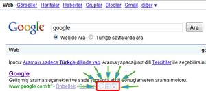 Google - Butonlar