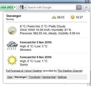 Weather Forecast Eklentisi
