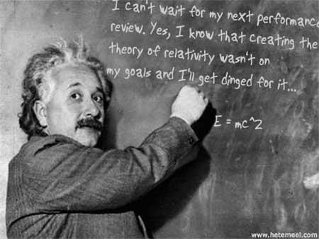 Einstein'ın performansa ilişkin görüşleri