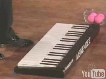 Christmas song with a keyboard