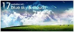 17 tasarım örneği; Bulutlar ve Mavi Gökyüzü
