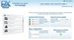 PHP/Ajax: Ptwix Twitter