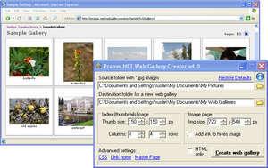 Web Gallery Creator