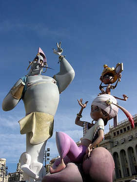 Las Fallas Karnavalı ' nın dev heykelleri