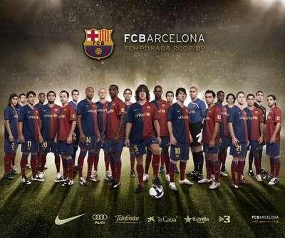 Muhteşem futbollarıyla Barcelona takımı