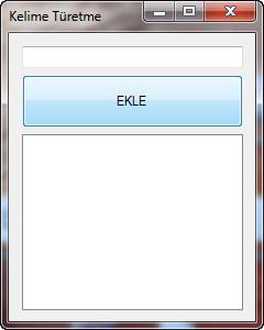 uygulama ekranı