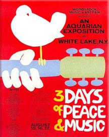 Woodstock Müzik Festivali'nin afişi
