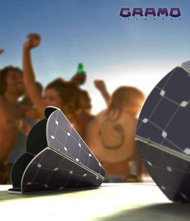 Güneş Enerjili Hoparlör: Gramo Speakers