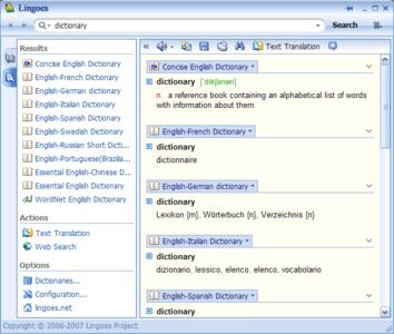 Lingoes sözlük yazılımı