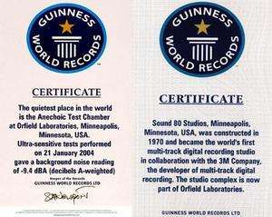 Guiness Rekorlar Kitabı sertifikası