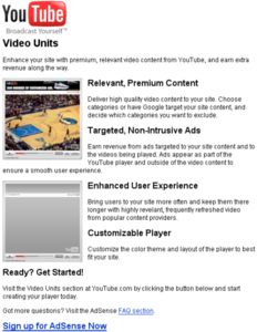 Adsense'li youtube video player