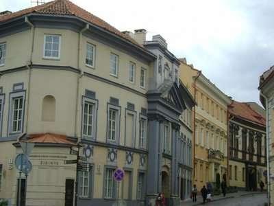 Başkent Vilnius'un tarihi sokaklarından Traku.