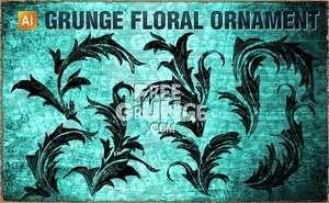 Vektörel Grunge Çiçek Desenleri