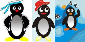 Corel'de çizilmiş örnek penguenler