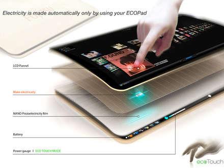 Ecopad - Siz dokundukça o şarj oluyor