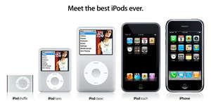 işte yeni ipod serisi ve iphone
