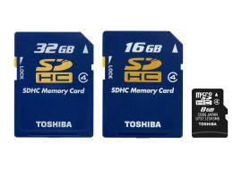 Toshiba'nın SDHC Hafıza Karları