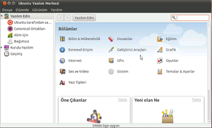ubuntu yazilim merkezi