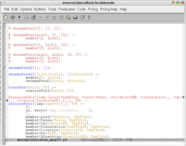emacs ekranı