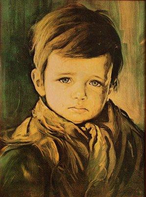 The Crying Boy (Ağlayan Çocuk) portresinin reprodüksiyonlarından bir tanesi...