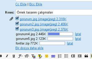 gmail dosya yükleme