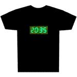 dijital saatli t-shirt