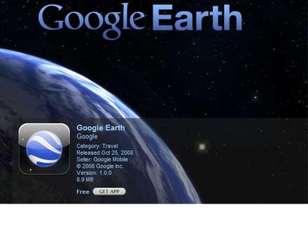 Google Earth - iPhone birlikteliği