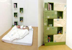 yatak olabilen kitaplık