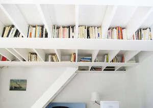 tavana gömmeli kitaplık