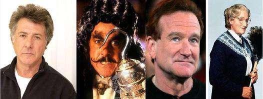 Dustin Hoffman (The Hook) & Robin Williams (Mrs. Doubtfire)