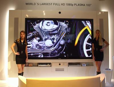 103 inç'lik Panasonic full HD plasma televizyon